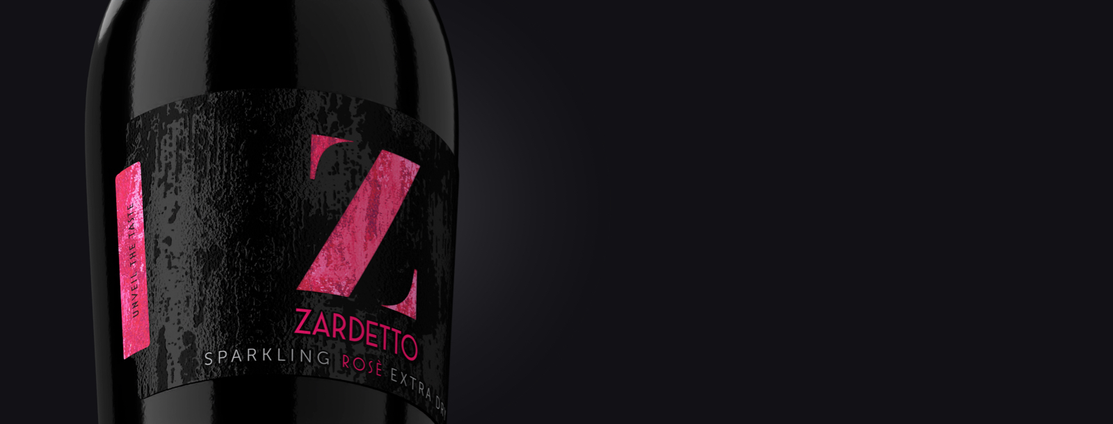 Closed Label on the bottle of Zardetto's Sparkling Rosé Extra Dry